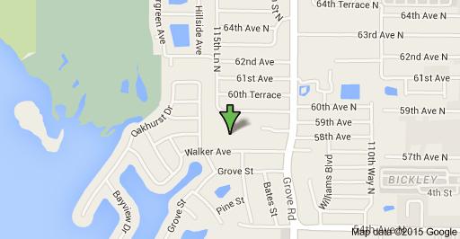 Google map image for 11501 Walker AV, Seminole, FL